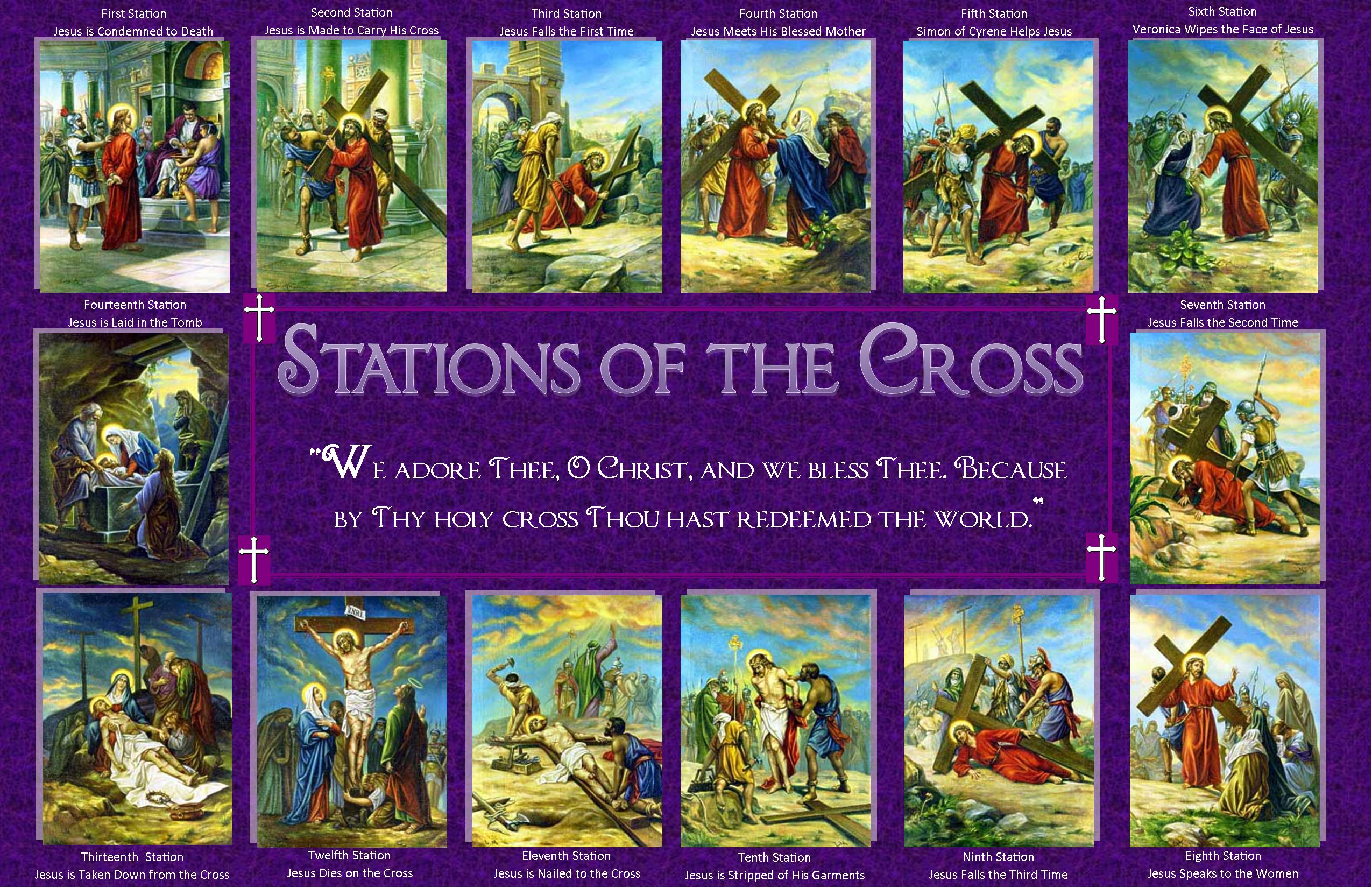 It is an image of Unforgettable Stations of the Cross Catholic Printable